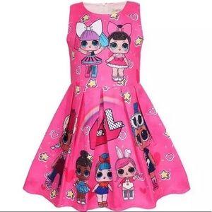 NWT Girls Pink LOL Surprise Dolls Dress